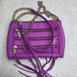 Rebecca Minkoff Purple Mini Bag Zippers